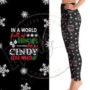 Cindy Lou Who Custom Christmas Leggings